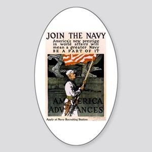 Join the Navy - Be Part of It Sticker (Oval)