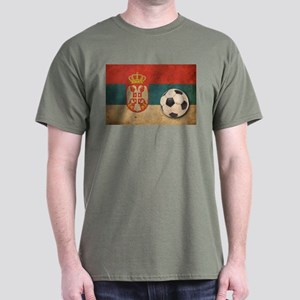 Vintage Serbia Football Dark T-Shirt