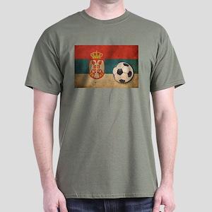 Vintage Serbia Football Dark T-Shirt
