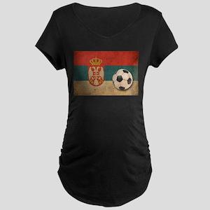 Vintage Serbia Football Maternity Dark T-Shirt