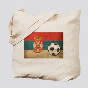 Vintage Serbia Football Tote Bag
