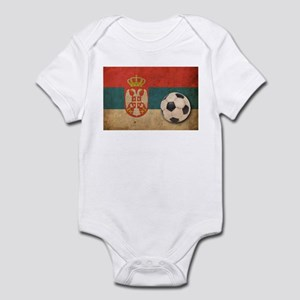 Vintage Serbia Football Infant Bodysuit