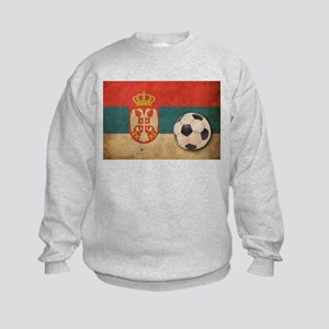 Vintage Serbia Football Kids Sweatshirt