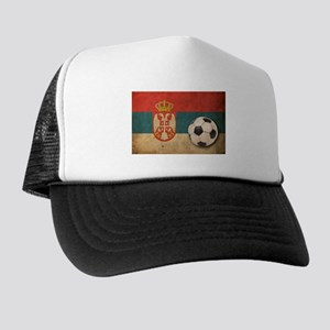 Vintage Serbia Football Trucker Hat