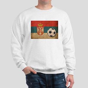 Vintage Serbia Football Sweatshirt