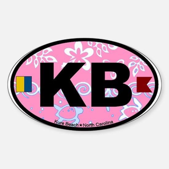 Kure Beach NC - Oval Design Sticker (Oval)