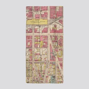 Map Of Indianapolis Indiana Beach Towels - CafePress
