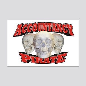 Accountancy Pirate Mini Poster Print