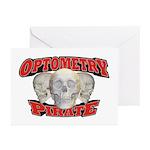 Optometry Pirate Greeting Cards (Pk of 10)
