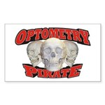 Optometry Pirate Sticker (Rectangle 10 pk)