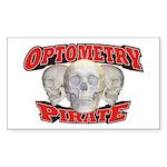 Optometry Pirate Sticker (Rectangle 50 pk)