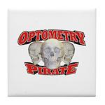 Optometry Pirate Tile Coaster