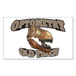Optometry Old Timer Sticker (Rectangle 10 pk)