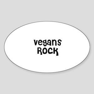 Vegans Rock Oval Sticker