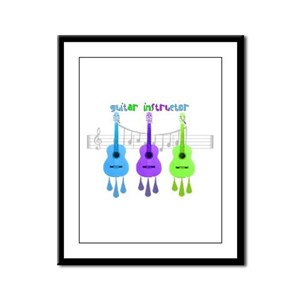 Guitar instructor Framed Panel Print