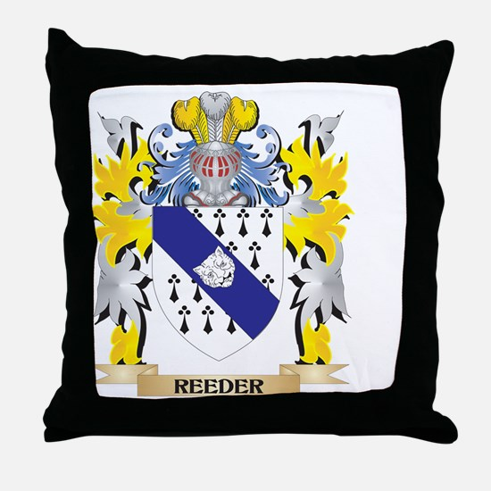 Reeder Family Crest - Coat of Arms Throw Pillow