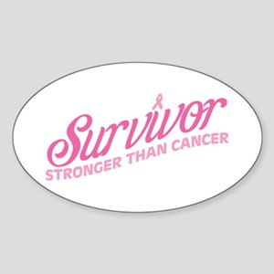 Survivor Stronger Sticker (Oval)