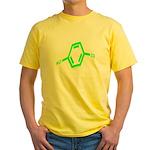 Molecularshirts.com Paranoid Yellow T-Shirt