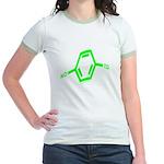 Molecularshirts.com Paranoid Jr. Ringer T-Shirt