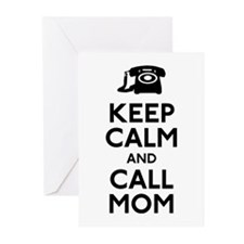 Keep Calm and Call Mom Greeting Cards (Pk of 20)