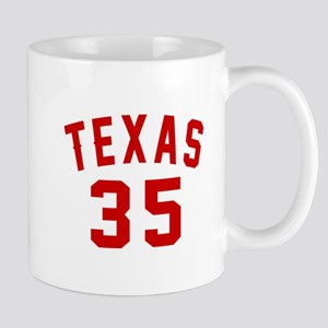 Texas 35 Birthday Designs 11 oz Ceramic Mug