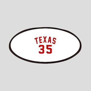 Texas 35 Birthday Designs Patch