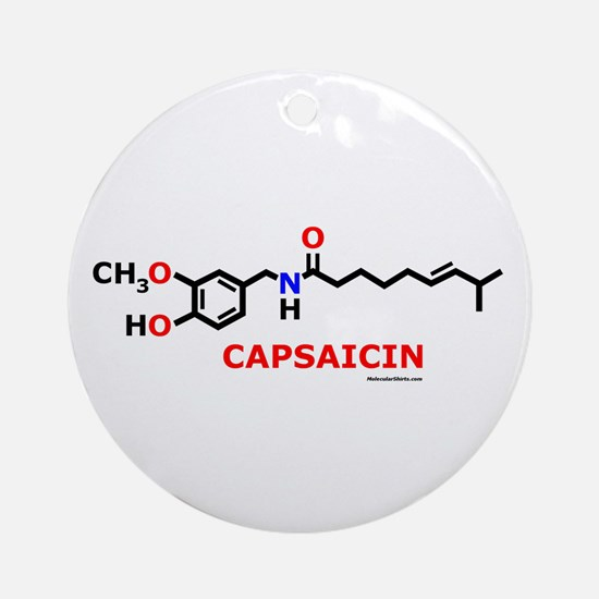 Molecularshirts.com Capsaicin Ornament (Round)