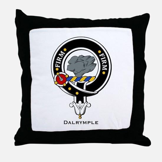 Dalrymple Clan Crest Badge Throw Pillow