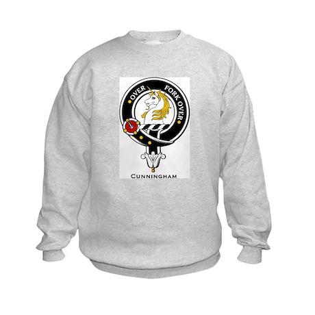 Cunningham Clan Crest Badge Kids Sweatshirt