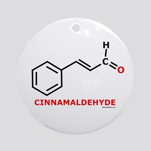 Molecularshirts.com Cinnamaldehyde Ornament (Round