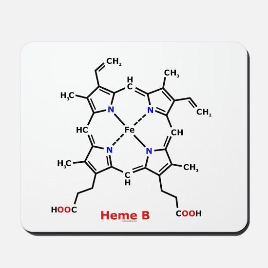 Molecularshirts.com Heme Mousepad