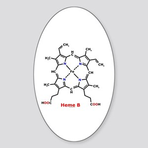 Molecularshirts.com Heme Sticker (Oval)