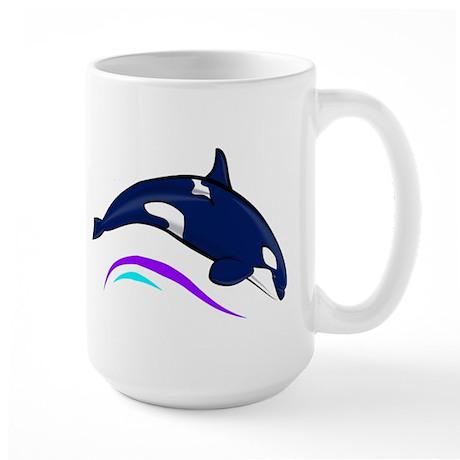 Jumping Orca Large Mug