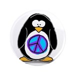 """Peace penguin 3.5"""" Button (100 pack)"""