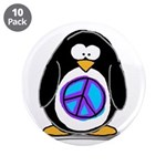 """Peace penguin 3.5"""" Button (10 pack)"""