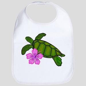 Colored Sea Turtle Hibiscus Bib