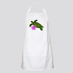 Colored Sea Turtle Hibiscus Apron