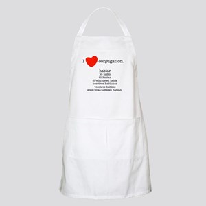 I heart conjugation Apron