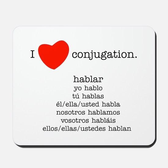 I heart conjugation Mousepad