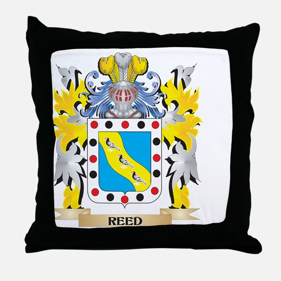 Reed Family Crest - Coat of Arms Throw Pillow