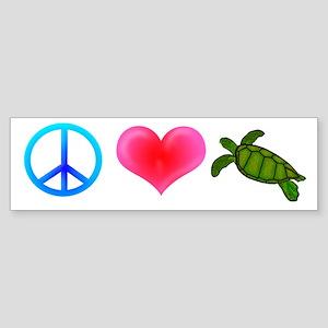 Peace Love Sea Turtles Sticker (Bumper)