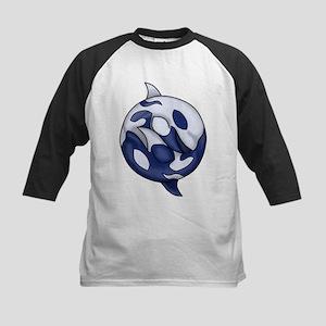 Orca Yin Yang Kids Baseball Jersey