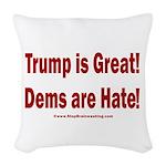 Mueller Report Reveals Woven Throw Pillow