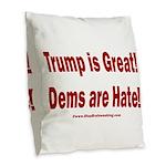 Mueller Report Reveals Burlap Throw Pillow