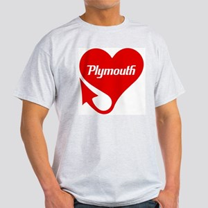 "Plymouth Heart - ""We'll Win You Over"" Light T-Shir"