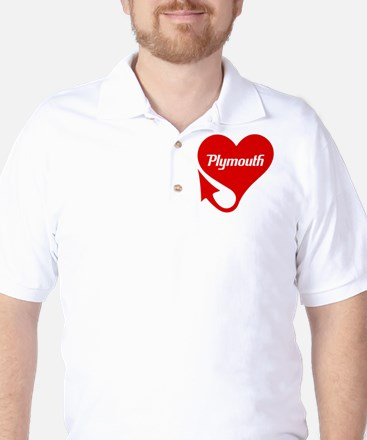 "Plymouth Heart - ""We'll Win You Over"" Golf Shirt"