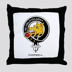 Campbell Clan Crest Badge Throw Pillow