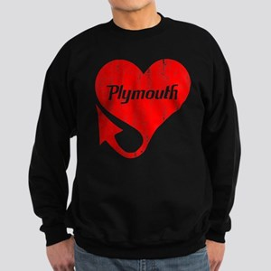 Plymouth Heart - Weathered Sweatshirt (dark)
