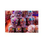 Chocolate Skulls Rectangle Magnet