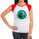 Earth Uplift Center Basic Women's Cap Sleeve T-Shi